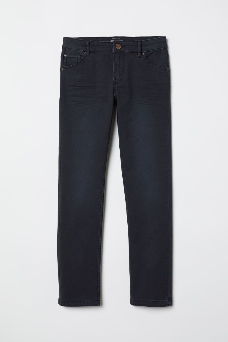 Slim-fit Twill Pants - Black - Kids | H&M US