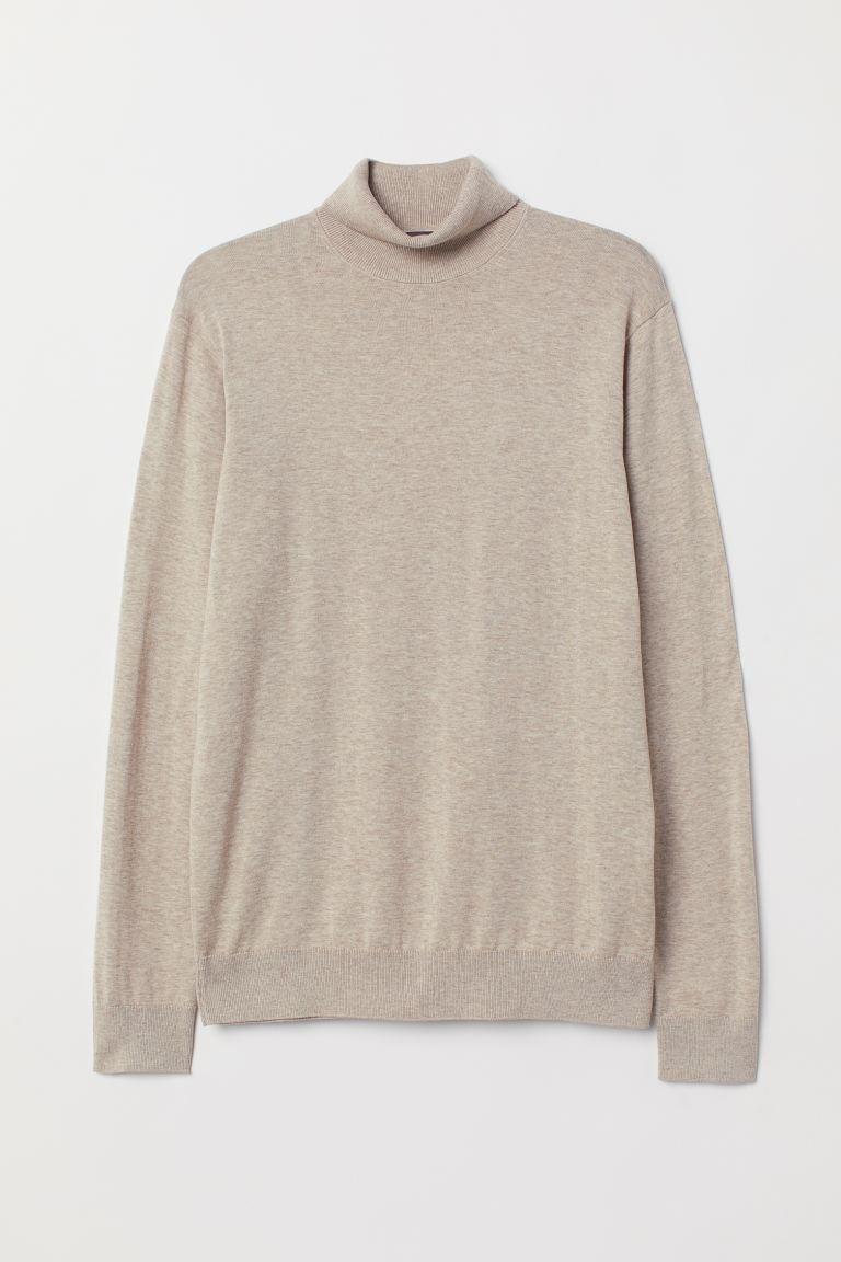 Premium cotton polo-neck