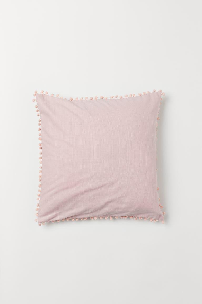 Pompom trim Cushion Cover