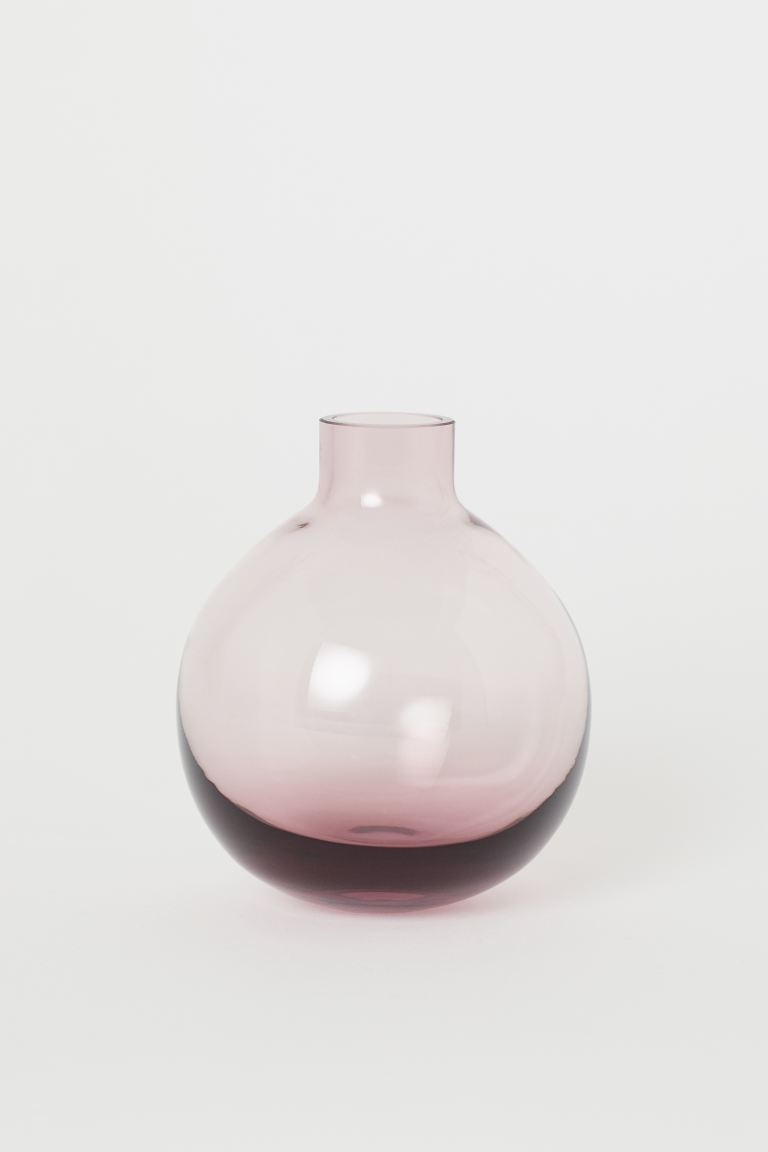 Small glass vase - Purple - Home All | H&M GB