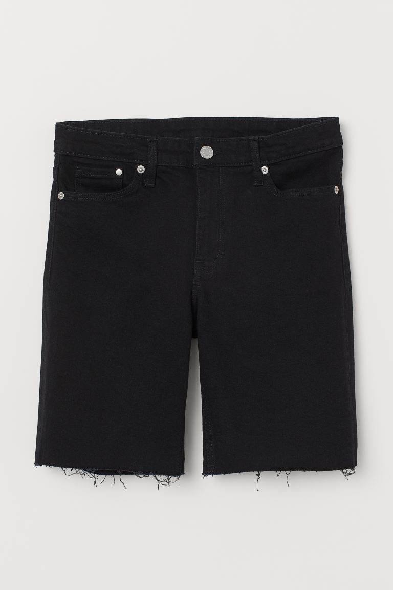 Shorts in denim - Nero - DONNA | H&M CH