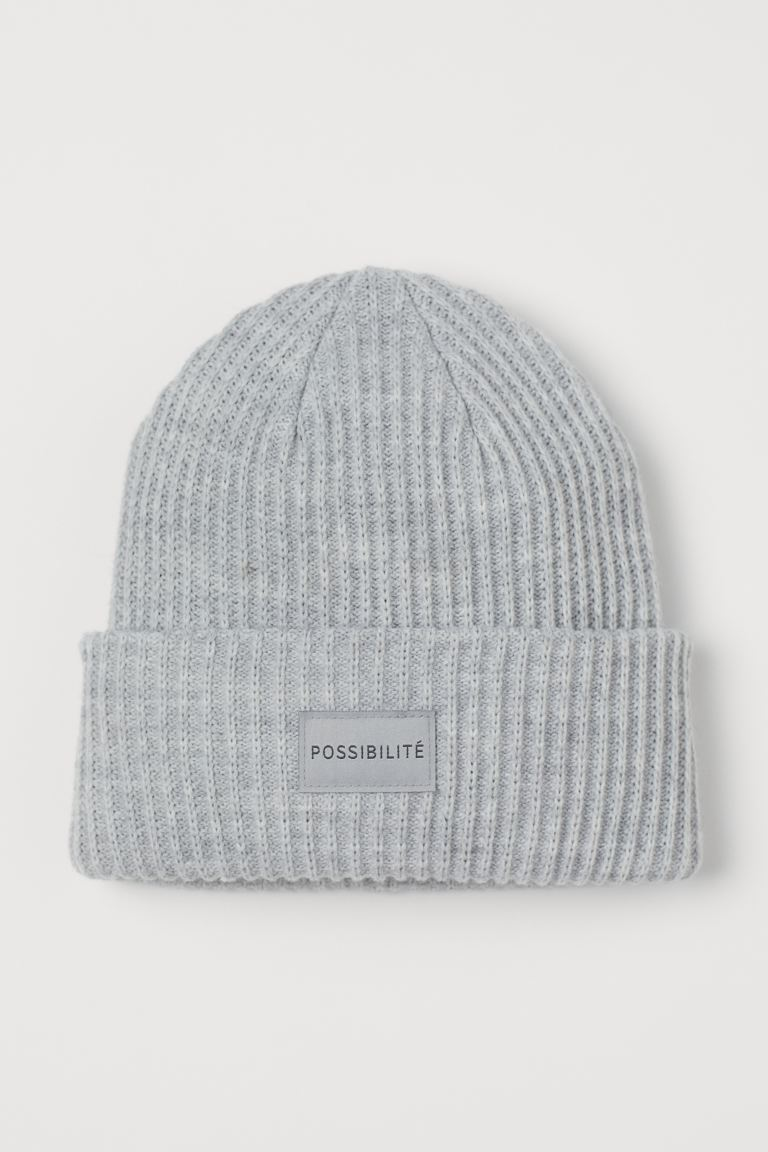Ribbed hat - Grey marl - Ladies | H&M IE