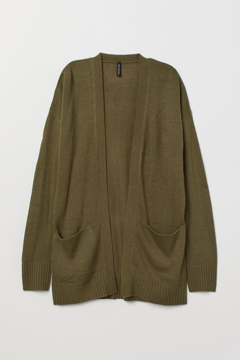 Strickcardigan - Khakigrün - Ladies | H&M DE