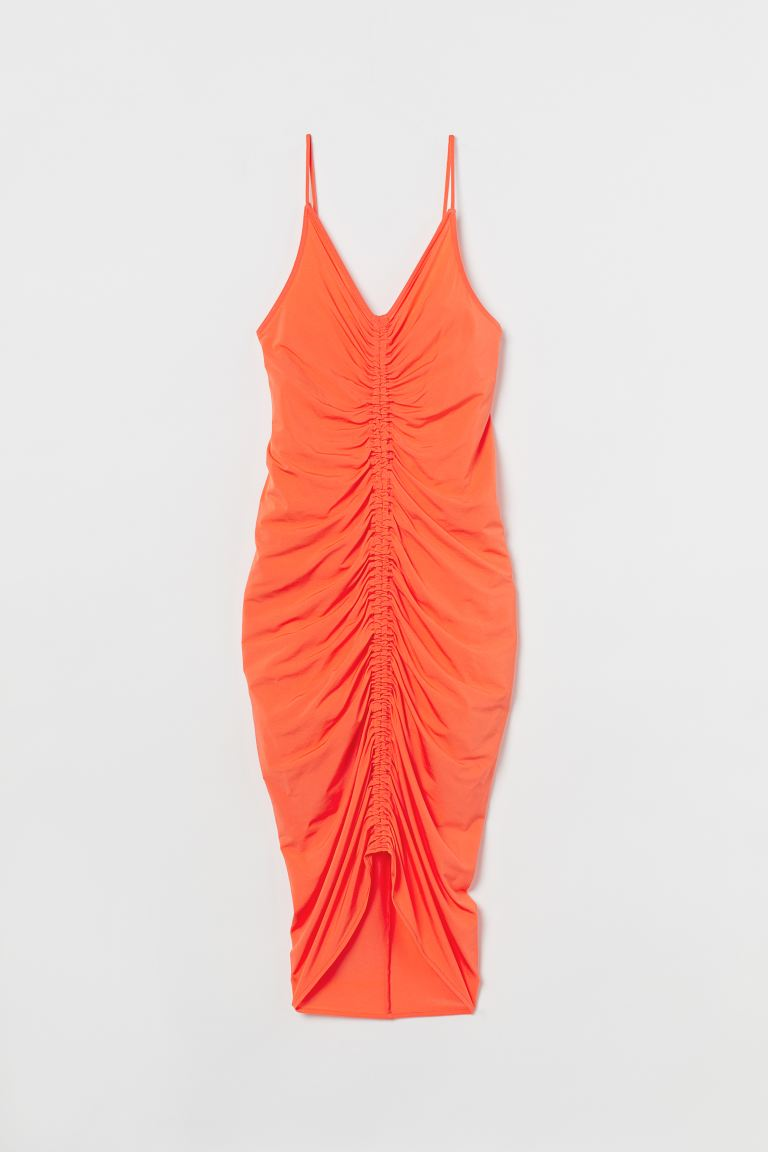 Draped dress - Orange - Ladies | H&M IN