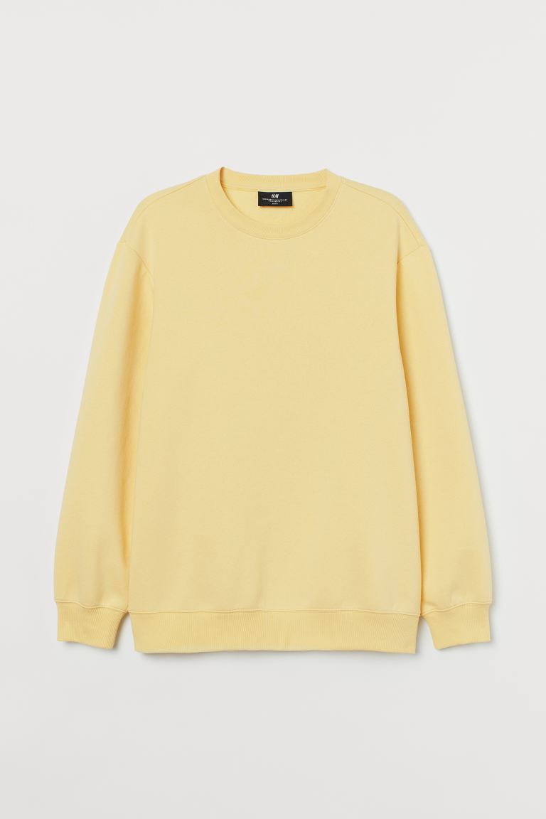 Sudadera Relaxed Fit - Amarillo claro - Men | H&M US