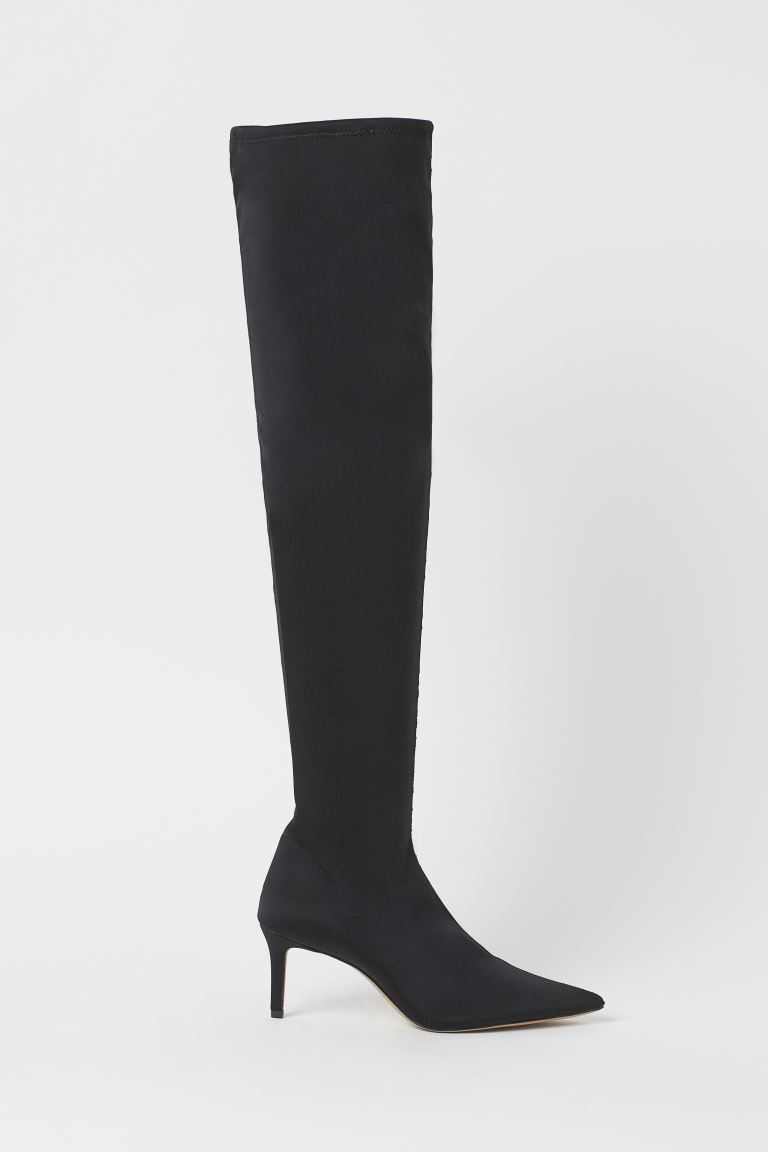 Overknee Sock-Boots - Schwarz - Ladies | H&M AT