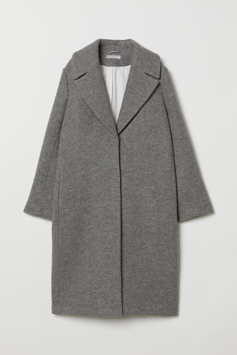 Cappotto in lana - Grigio - DONNA | H&M IT