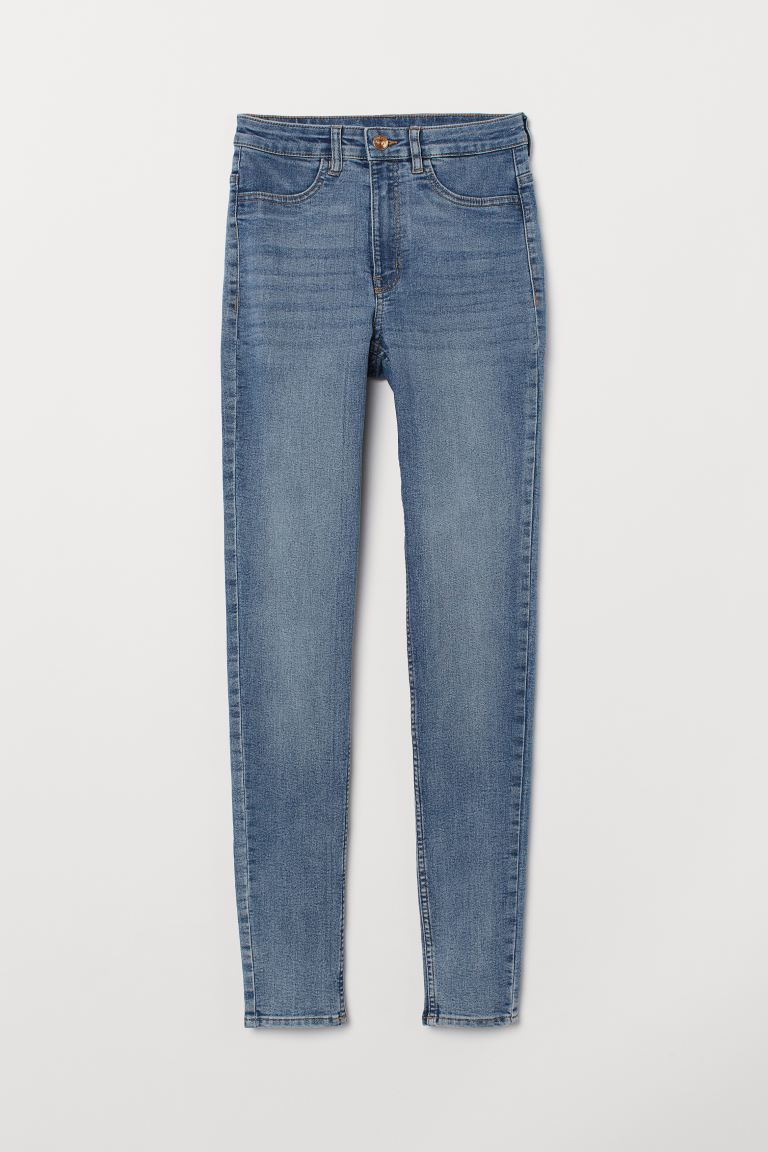 Super Skinny High Jeans - Light denim blue - Ladies | H&M AU