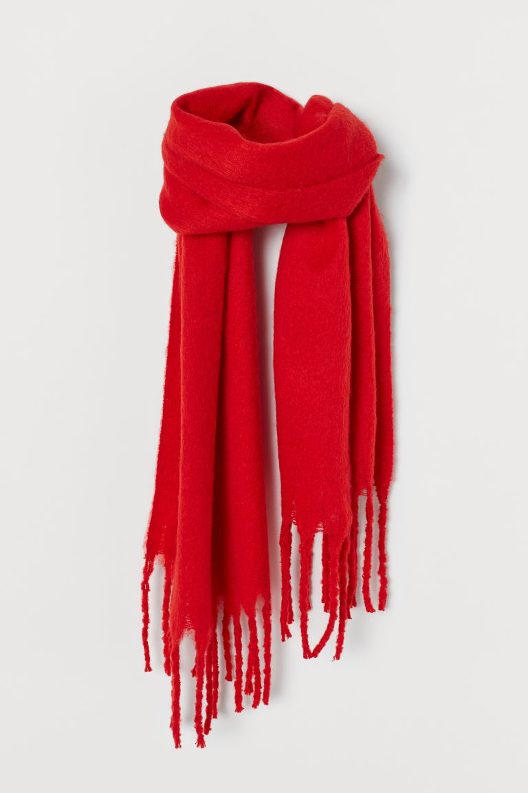 Brushed-finish scarf - Red - Ladies | H&M IE