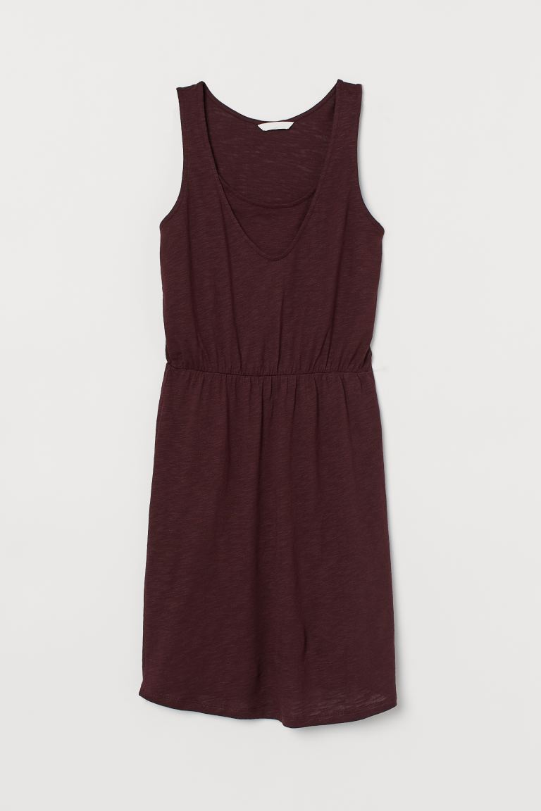 MAMA Nursing dress - Burgundy - Ladies | H&M GB