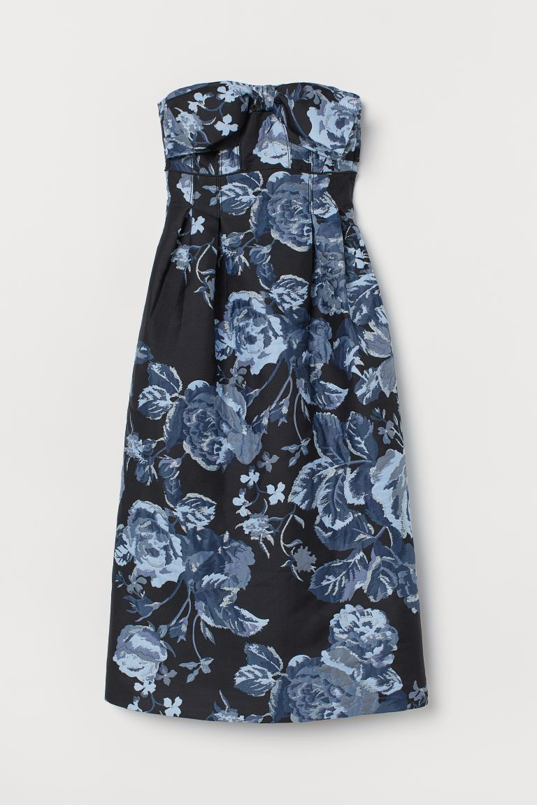 Brocade dress - Black/Blue - Ladies | H&M