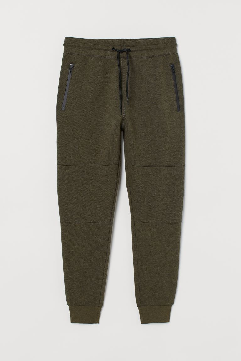 Joggers - Khaki green marl - Men | H&M GB