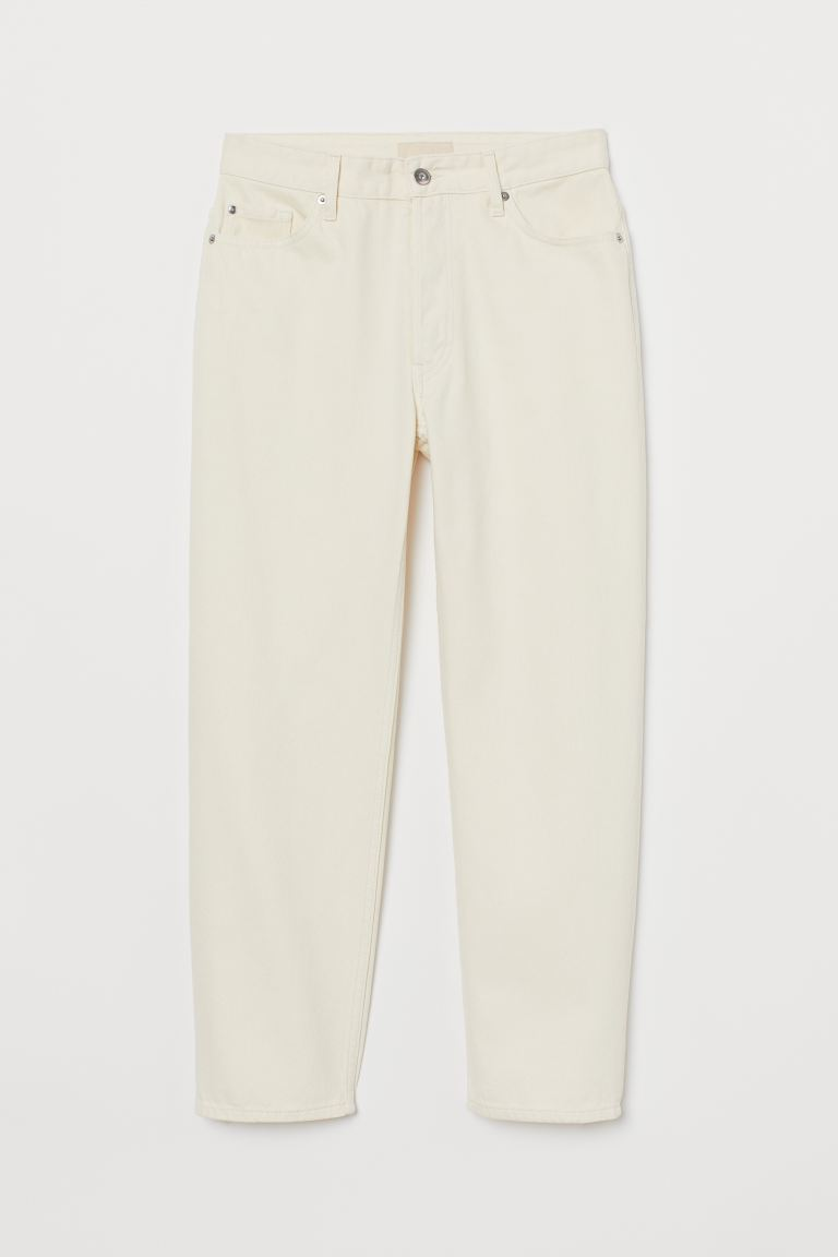 Straight Ankle Jeans - Natural white - Ladies | H&M GB