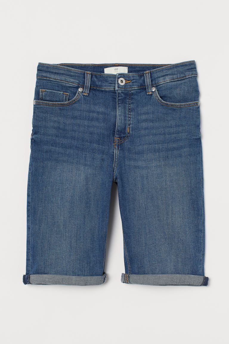 Shorts in denim - Blu denim scuro - DONNA | H&M CH