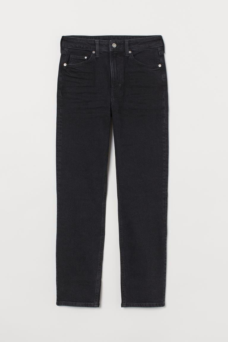 Vintage Slim High Ankle Jeans - Denim preto - SENHORA | H&M PT
