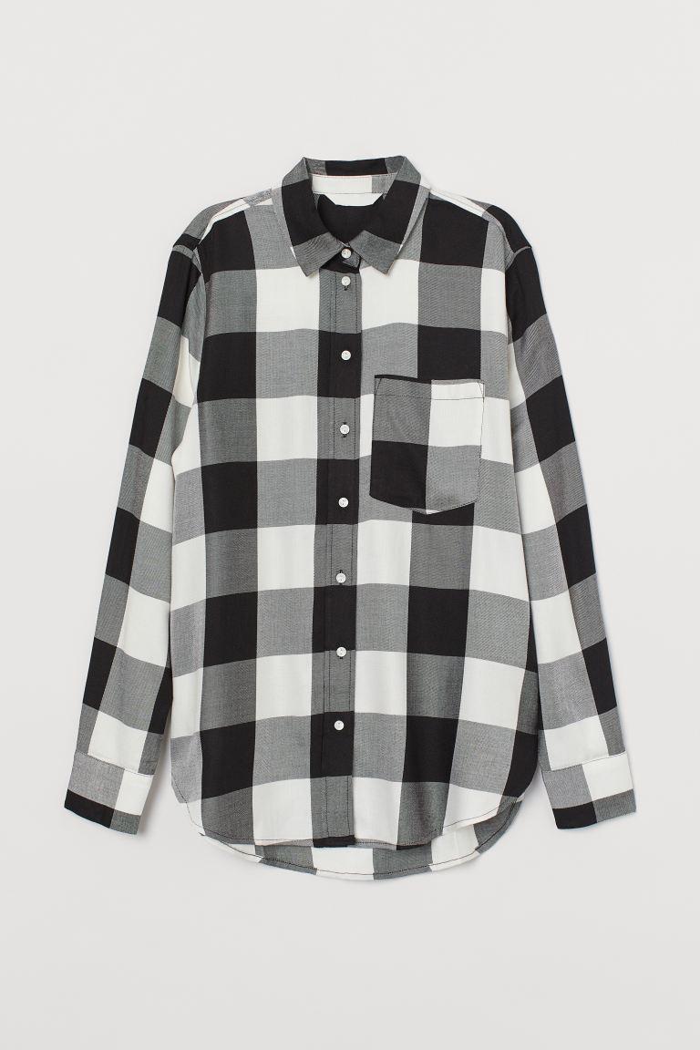 svart vit skjorta