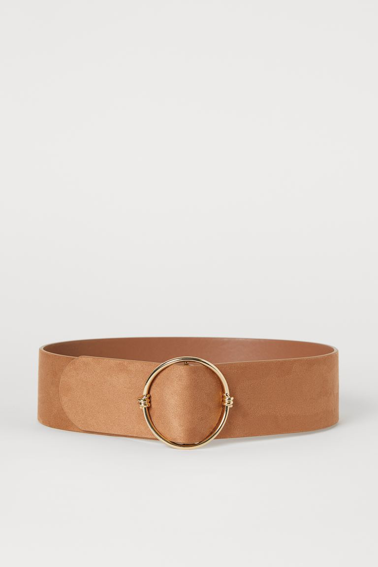 Wide waist belt - Light brown - Ladies | H&M IN