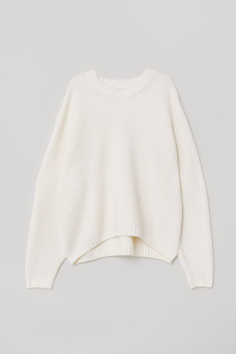 Knit Sweater - Natural white - Ladies | H&M CA