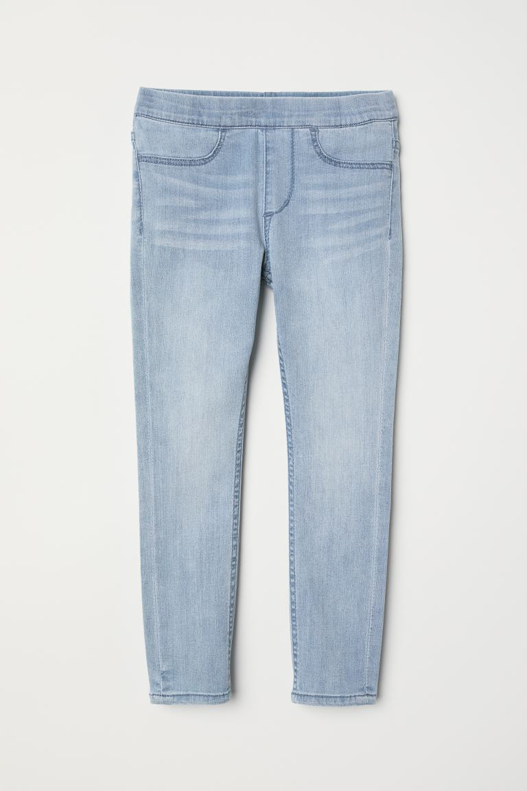 Denim Leggings - Light denim blue - Kids | H&M US