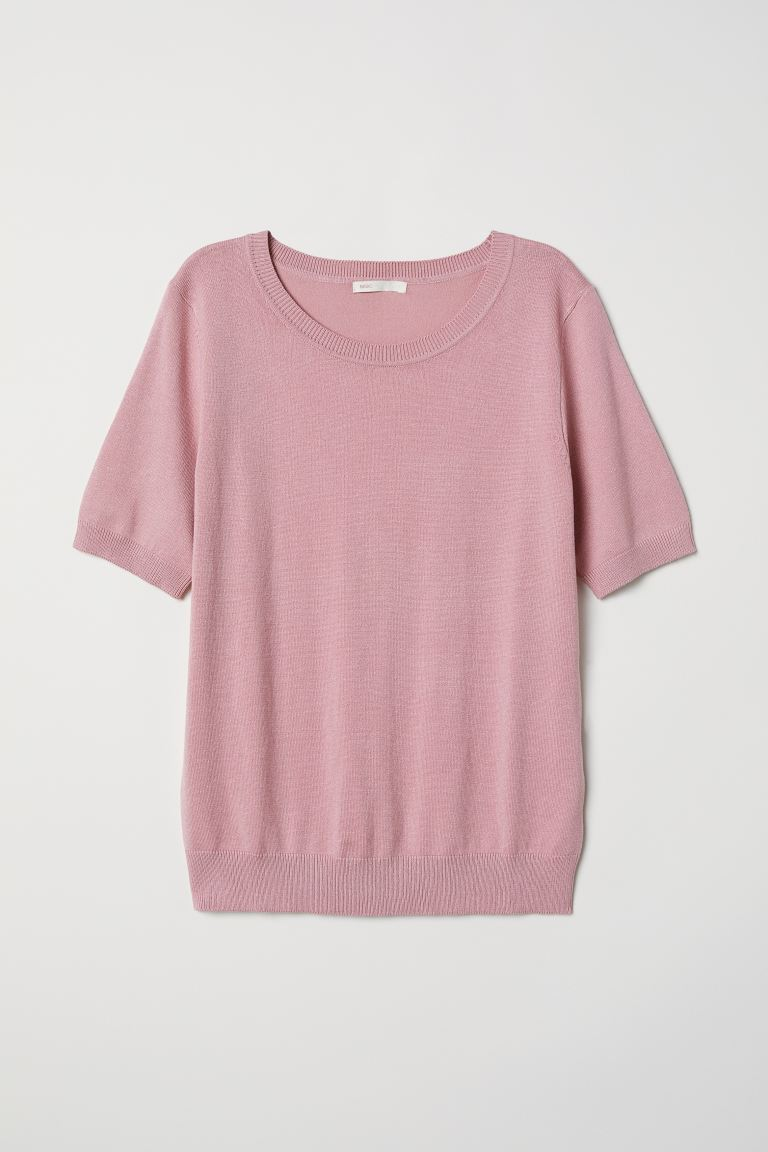 Fine-knit Sweater - Dark dusty rose - Ladies | H&M CA