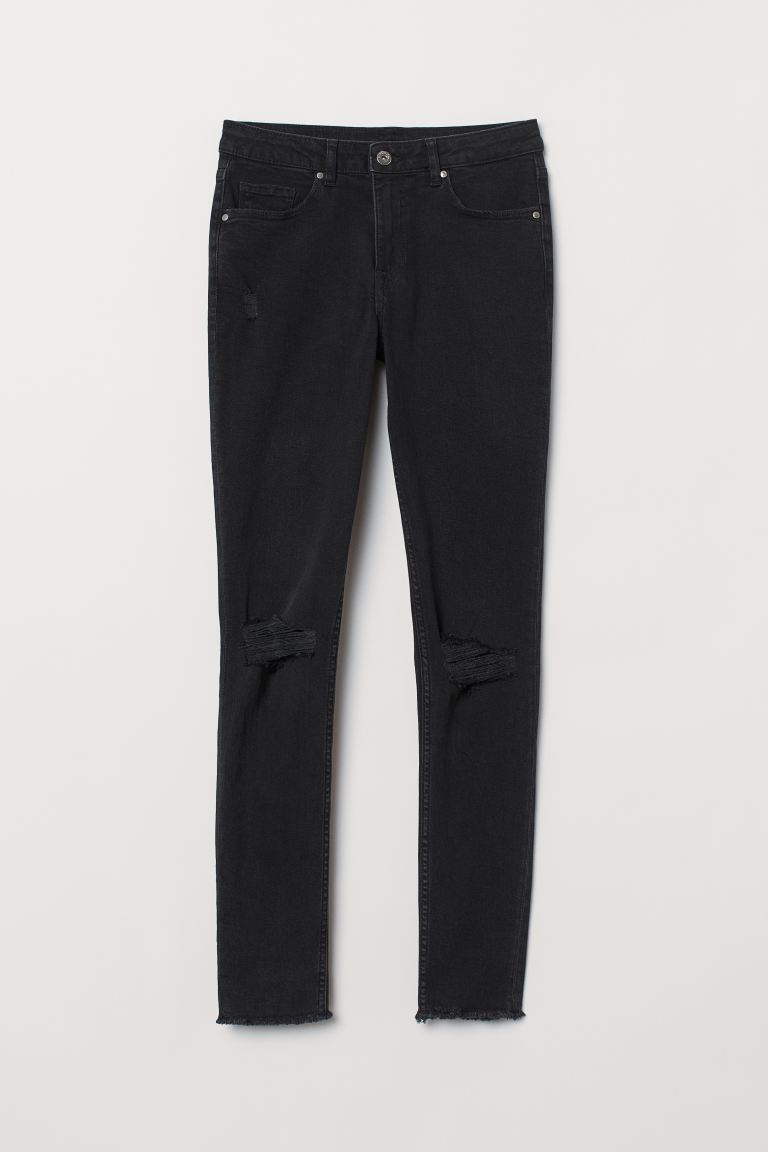 Skinny Regular Ankle Jeans - Nero/washed - DONNA | H&M IT