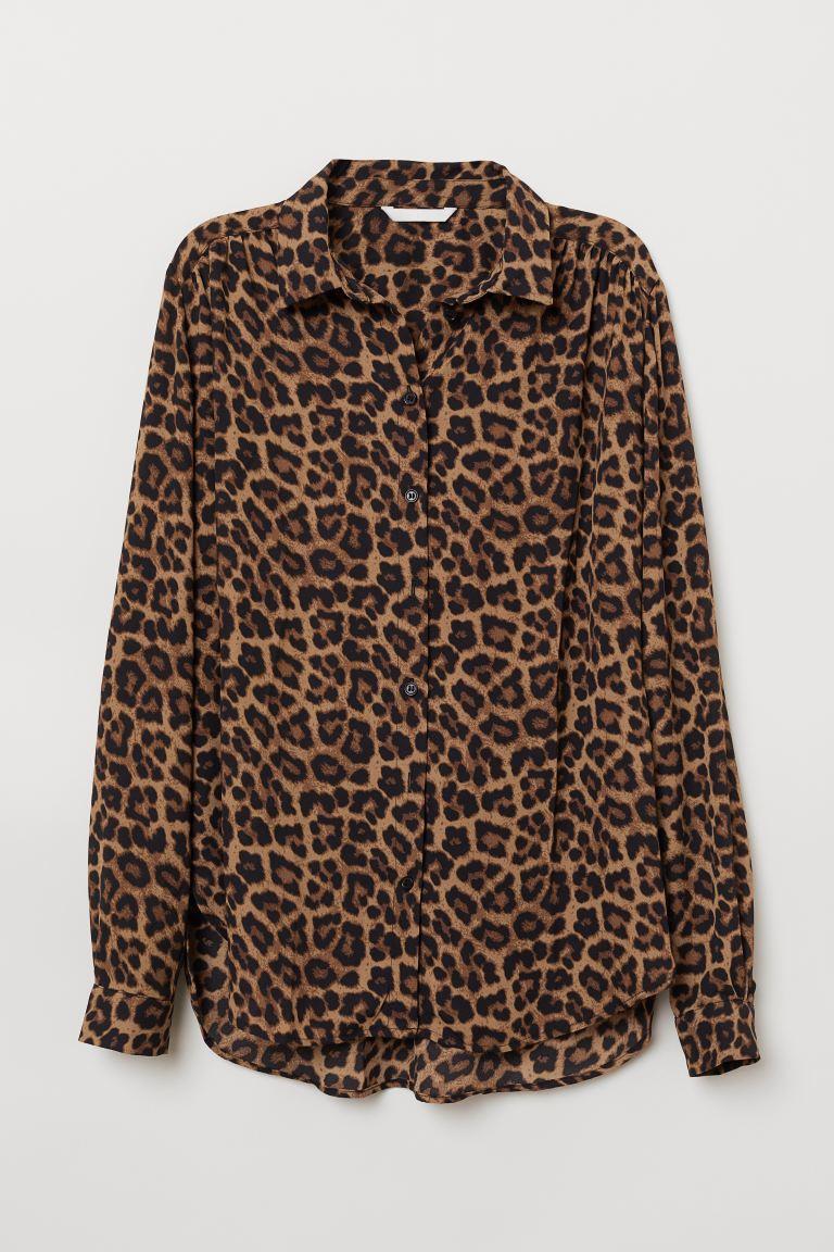 leopard skjorta dam