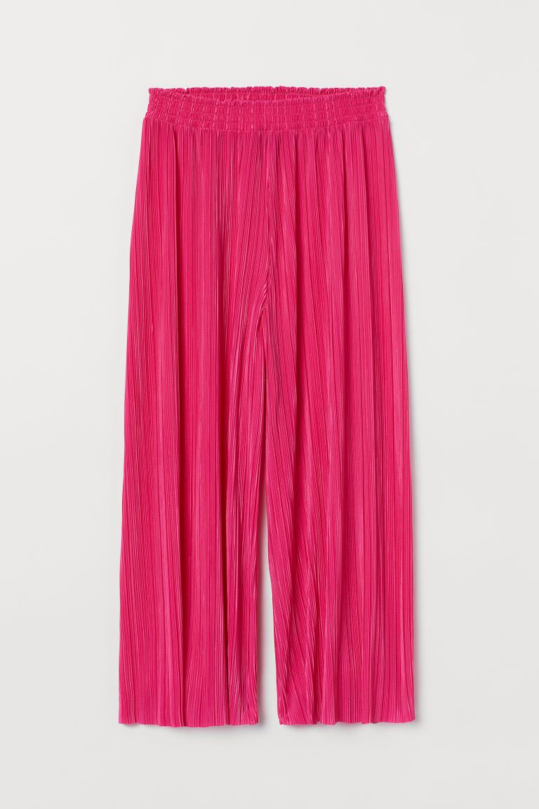 Pleated Culottes - Cerise - Ladies | H&M US
