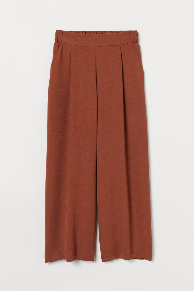 Wide-cut Pants - Brown - Ladies | H&M CA