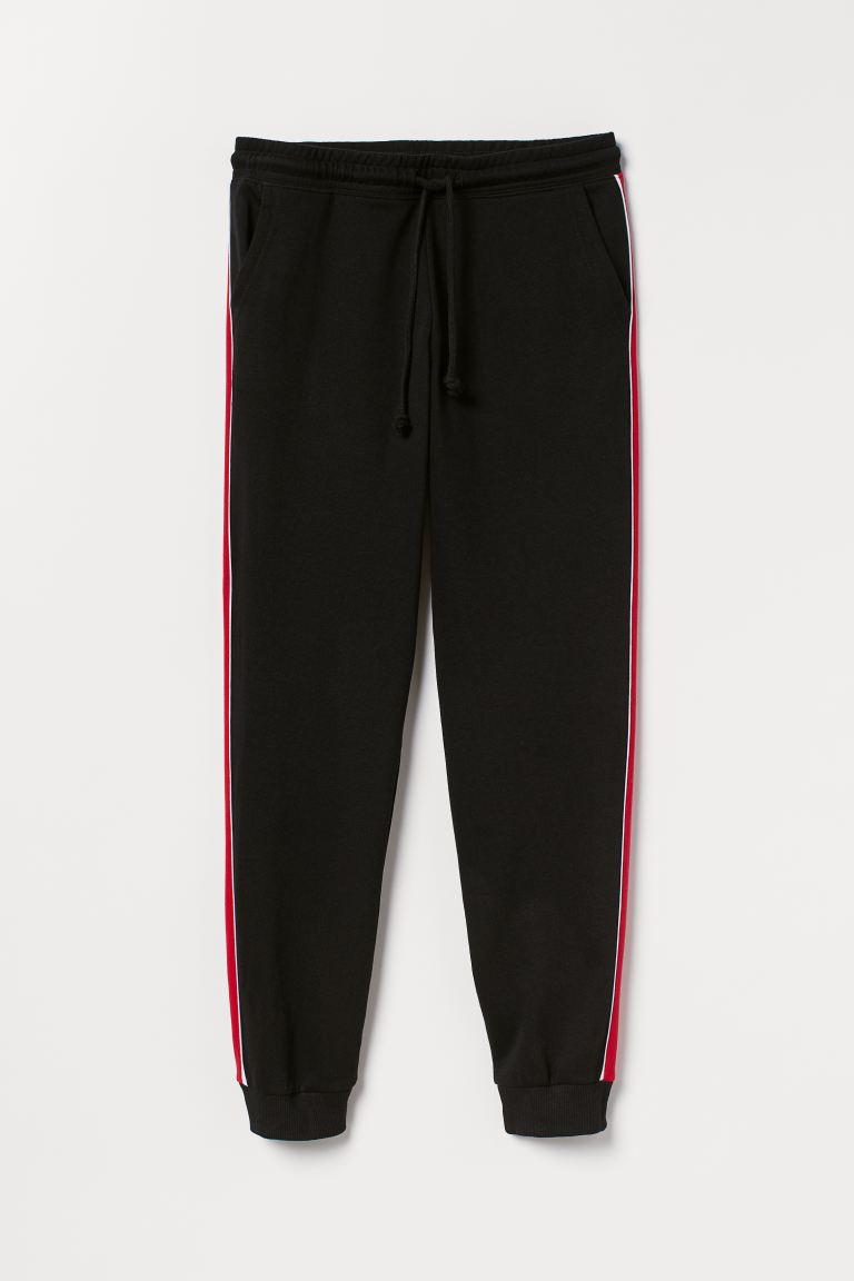 Sweatpants - Black/Red - Ladies | H&M