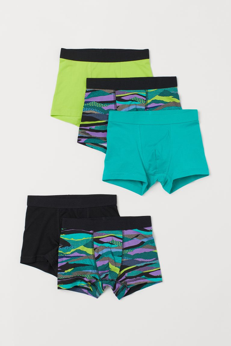 5-pack boxer shorts - Turquoise/Patterned - Kids | H&M