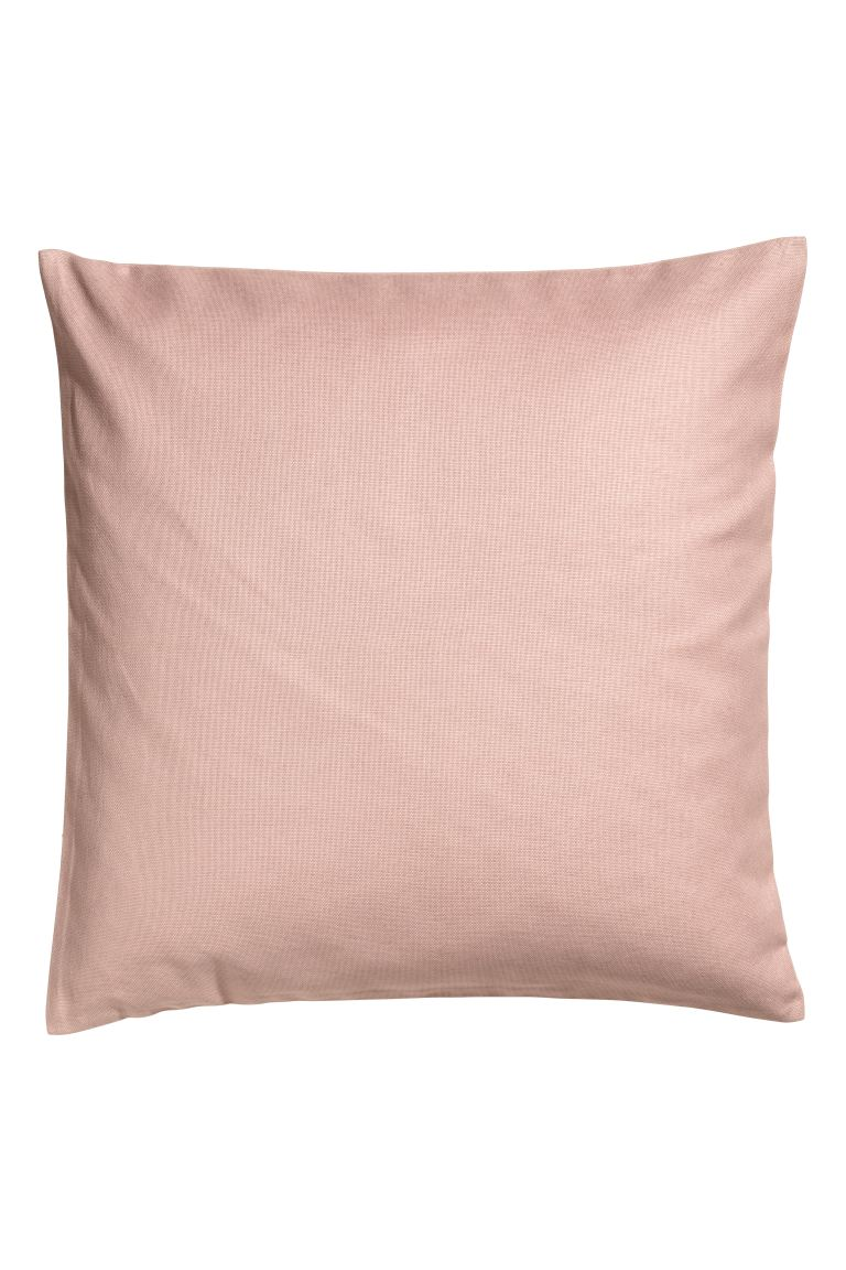 Cotton canvas cushion cover - Old rose - Home All | H&M GB