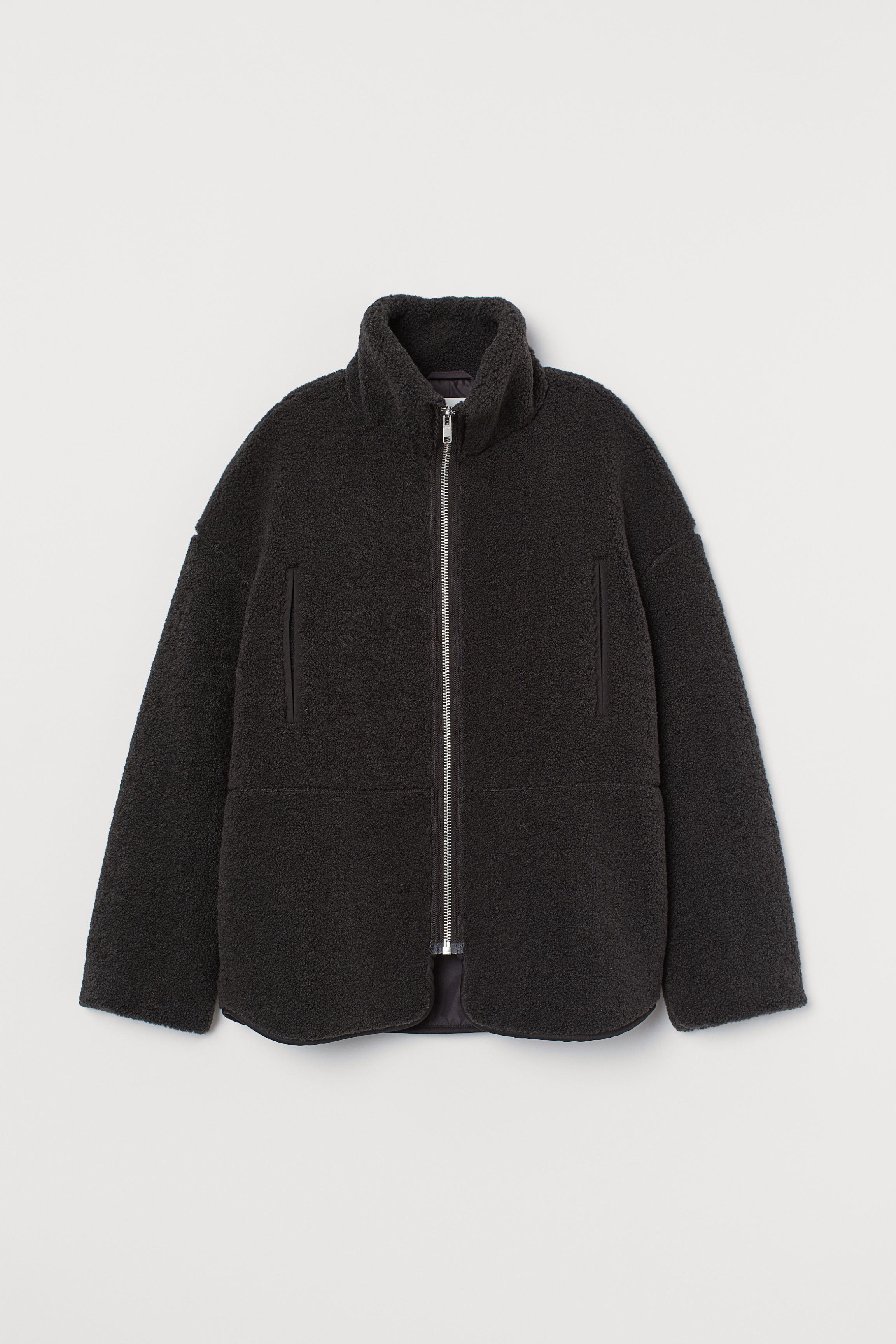 Fleece Jacket with High Collar