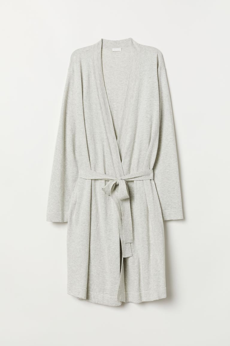 Baumwollmix-Cardigan - Hellgraumeliert - Home All | H&M AT