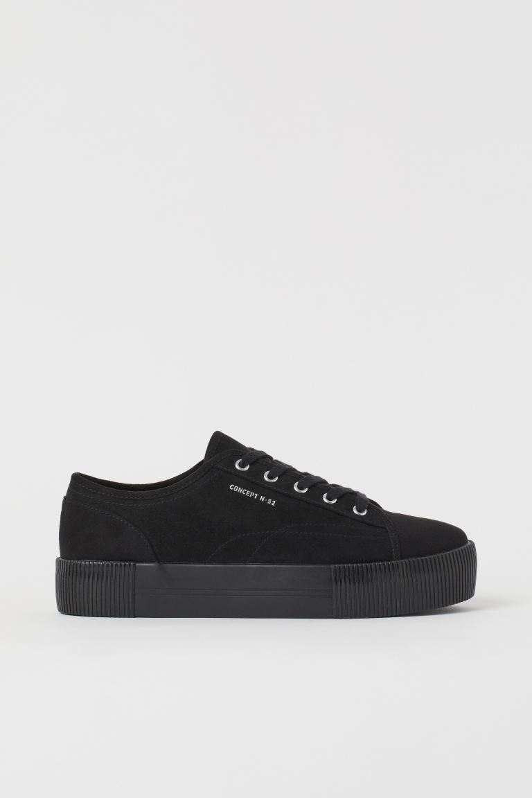 Plateausneakers - Zwart - DAMES | H&M BE