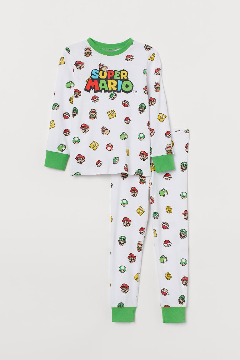 Pijama estampada - Blanco/Super Mario - Kids | H&M MX