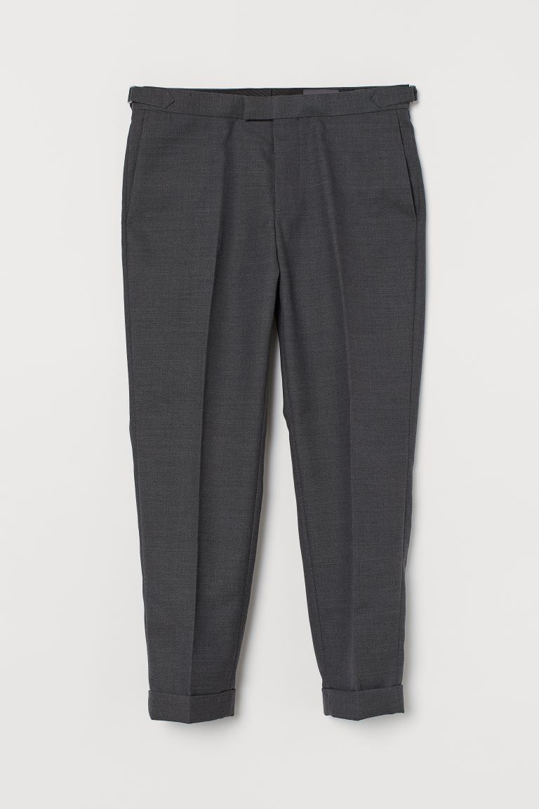 Pantalon de costume Slim Fit - Gris foncé chiné - HOMME | H&M BE
