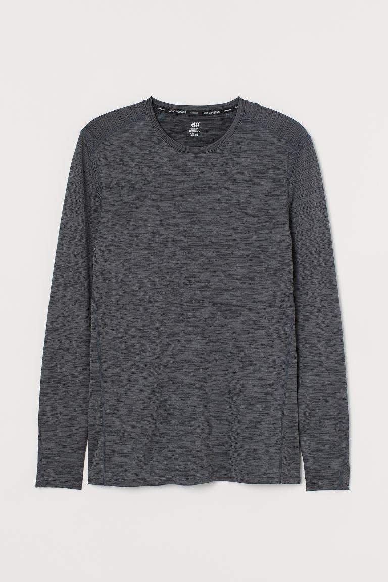 Sportshirt Muscle Fit - Dunkelgraumeliert - Men | H&M AT