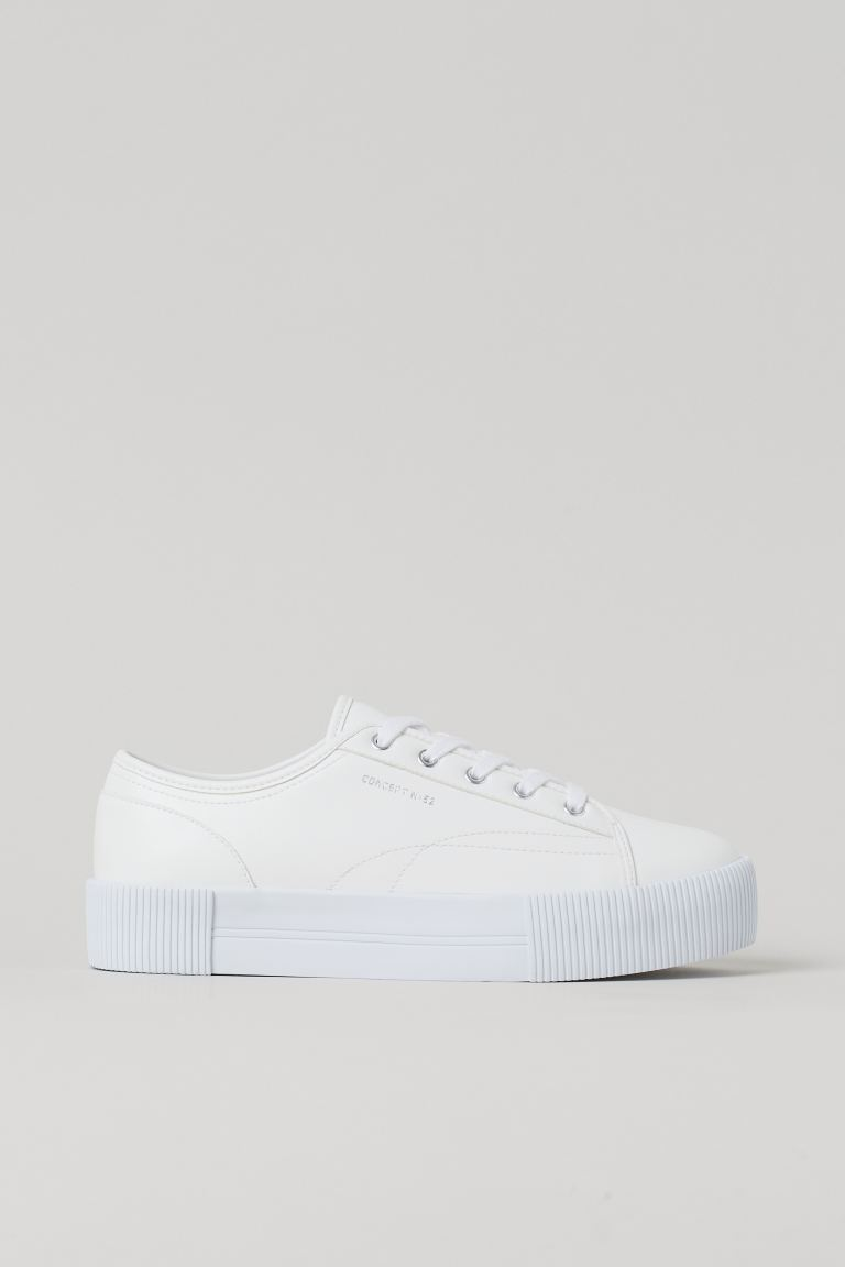 Platform trainers - White - Ladies | H&M GB