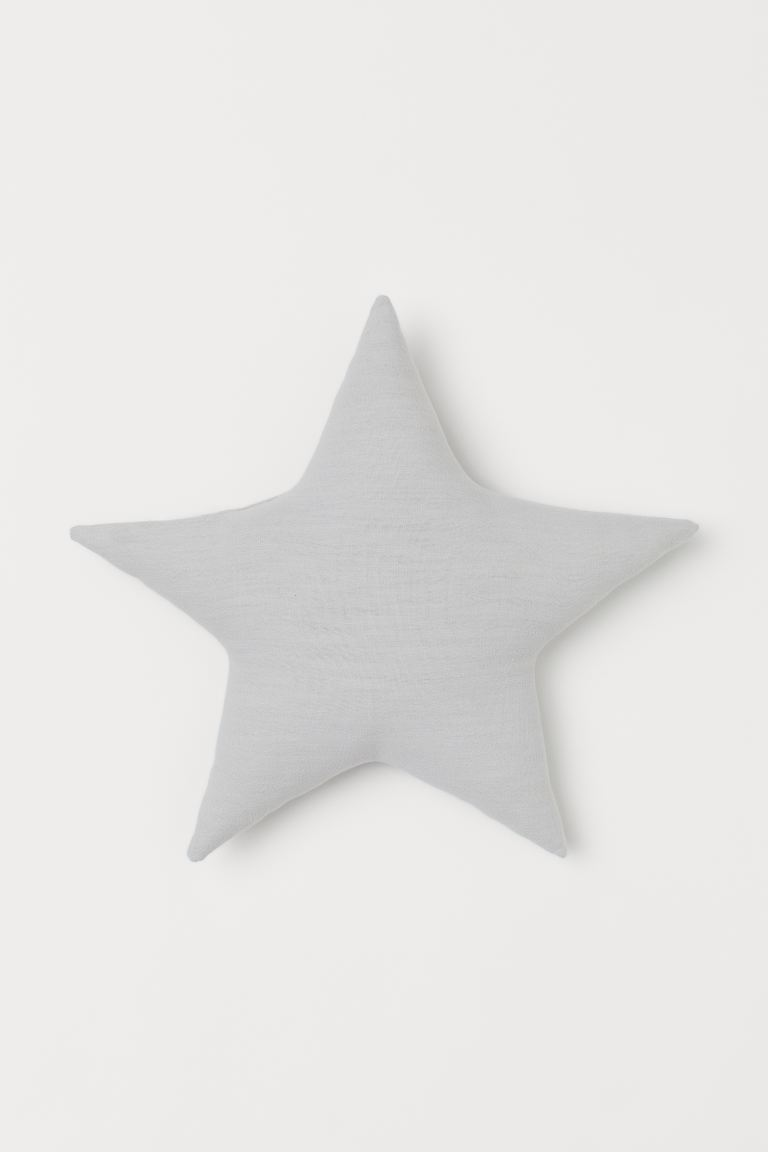 Star-shaped Cushion - Light gray - Home All | H&M US