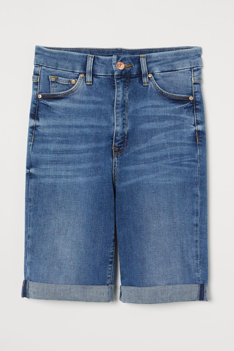 Bermudas Embrace High - Azul denim - SENHORA | H&M PT