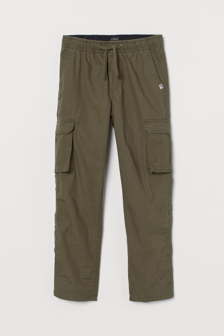 Cargo Pants - Khaki green - Kids | H&M AU