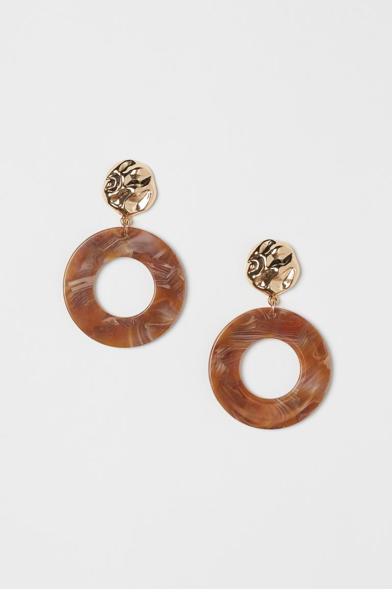 Earrings - Gold-colored/brown melange - Ladies | H&M US