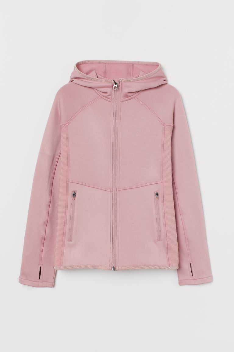 Hooded fleece jacket - Old rose - Kids | H&M