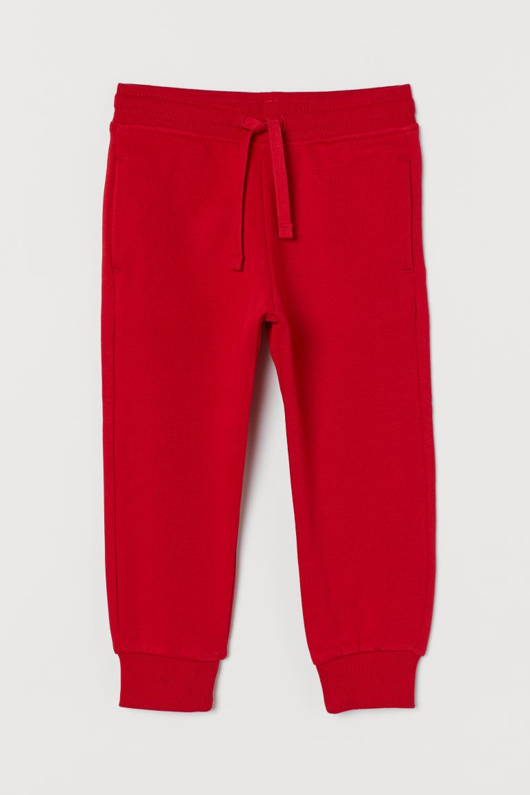 Brushed-inside Joggers - Red - Kids | H&M CA