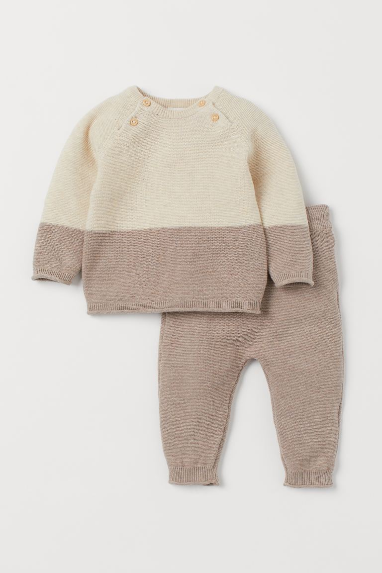 Jumper and trousers - Beige marl - Kids | H&M