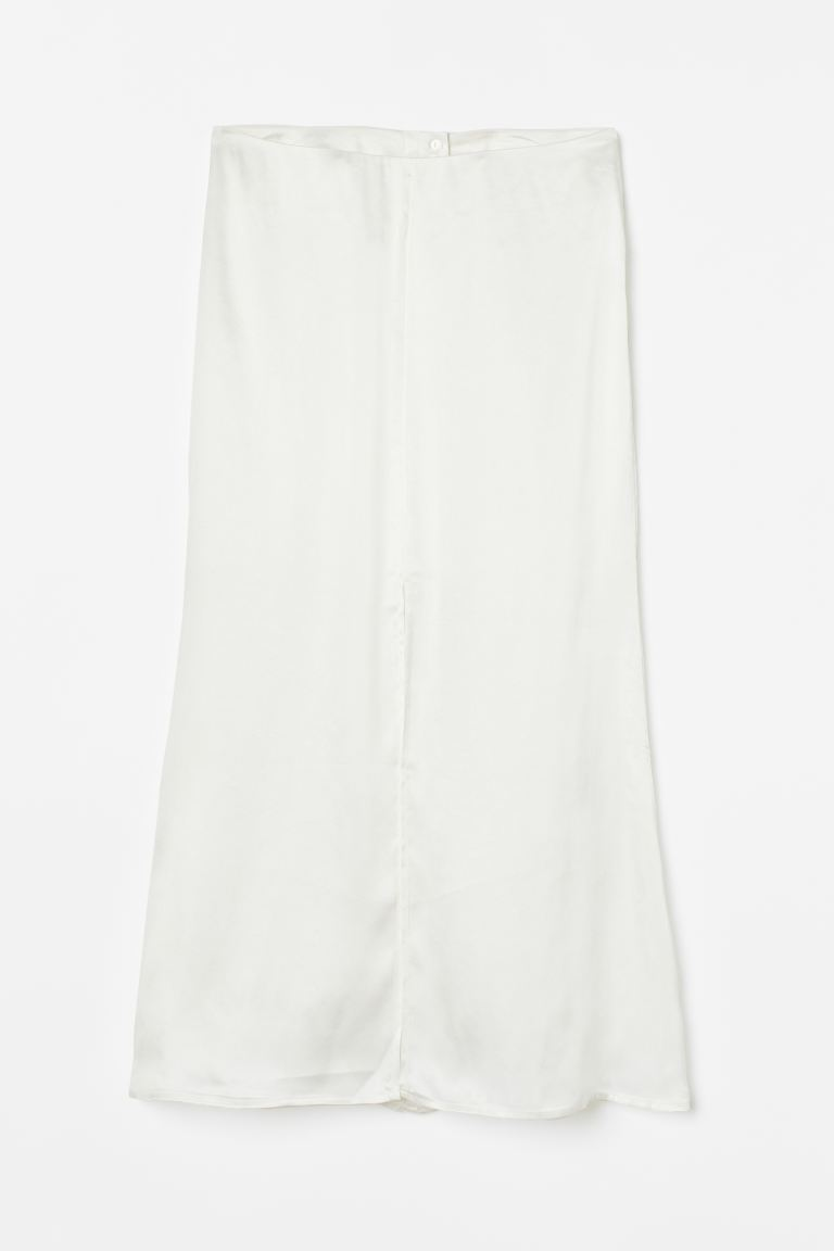 Lyocell-blend Skirt - White - Ladies | H&M US