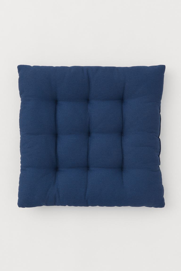 Twill seat cushion - Dark blue - Home All | H&M IE