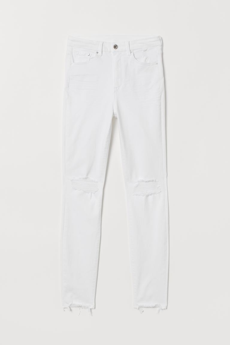 Embrace High Ankle Jeans - Blanco/Trashed - MUJER | H&M ES
