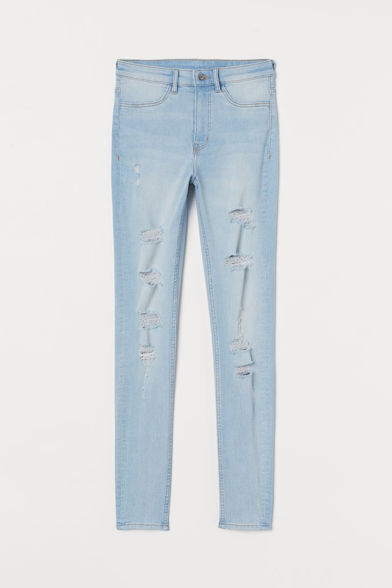 Super Skinny High Jeans - Бледосин деним - ЖЕНИ | H&M BG