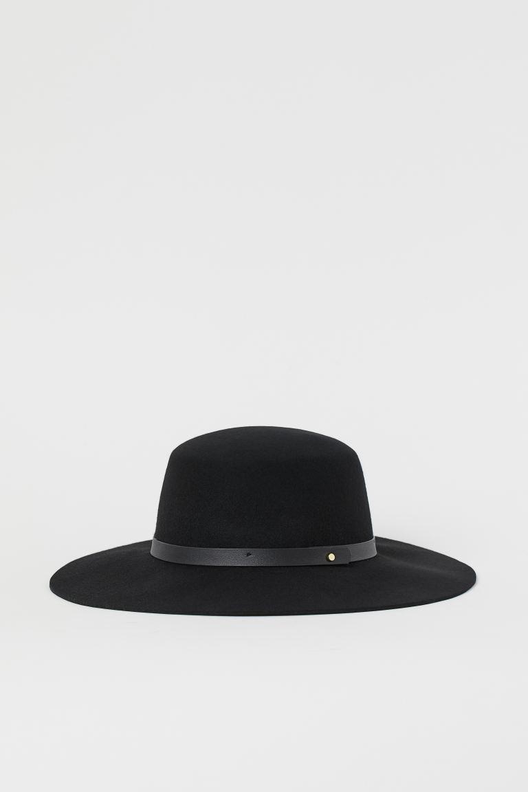 Felted Wool Hat Black